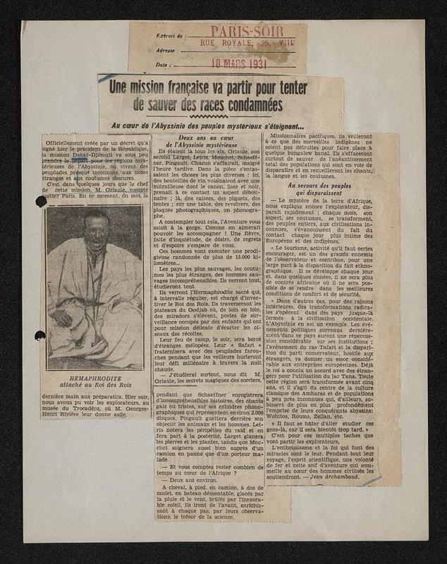 Paris Soir, 18 mars 1931 (2 exemplaires)