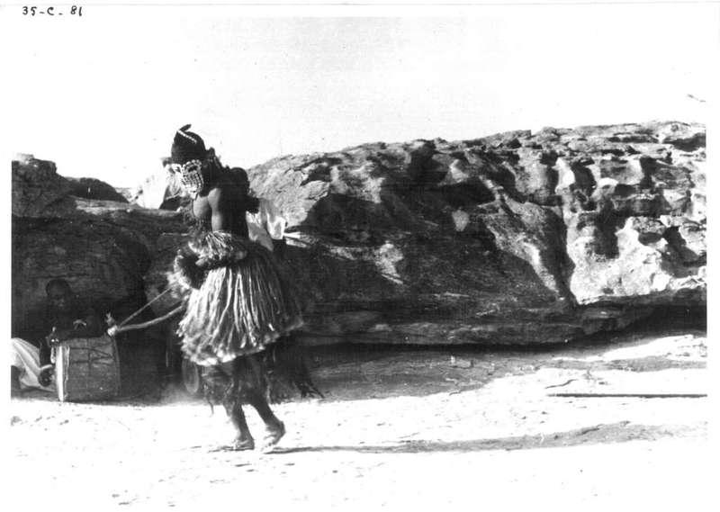 SANGA - Danse du masque en fibres ( reconstitution)