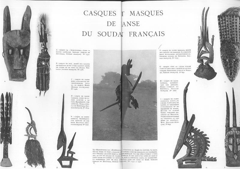 """Pages 20-21 du numéro spécial de """"Minotaure"""" sur Dakar-Djibouti, juin 1933"""