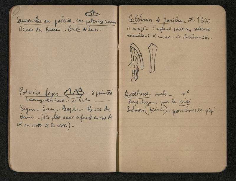 Cinquième page du carnet «Aires d'extension»