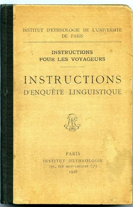 Instructions d'enquête linguistique : instructions pour les voyageurs