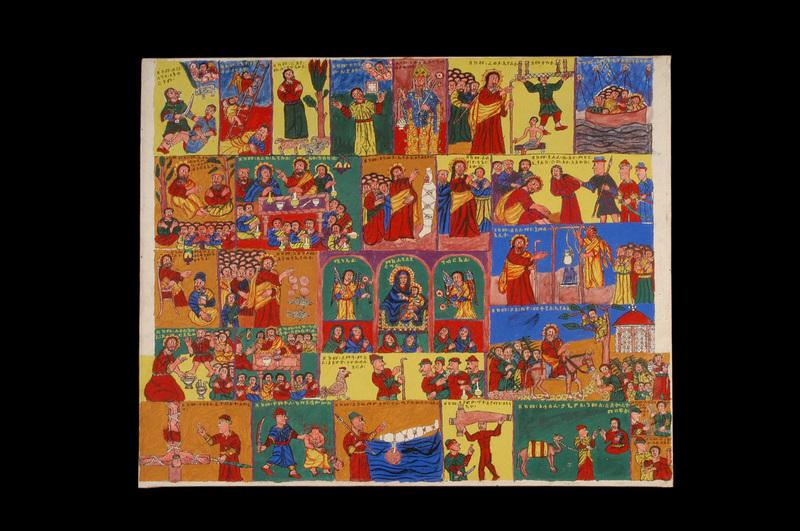 Peinture - Fresques d'une église abyssine