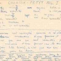 Chanson (1) - Petit mil