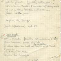 Fiche 1 Botanique Sahara Soudan 1935.