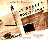Première page de  l'article de Marcel Griaule, Malgré deux drames récents… le désert est un boulevard