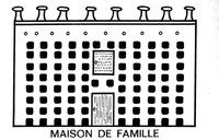 Dessin d'une maison de famille