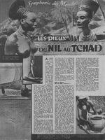 Première page de l'article de Marcel Griaule, Les dieux du Nil au Tchad