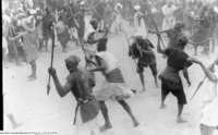 Funérailles d'un chasseur dogon, le 20 octobre 1931 à Sanga (Mission Dakar-Djibouti)