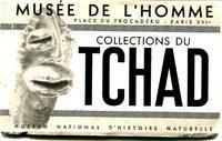 Couverture du carnet de cartes postales détachables sur les Collections du Tchad, édité par le musée de l'Homme en 1941